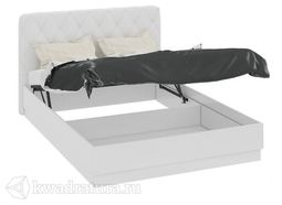 Кровать Амели с мягким изголовьем и подъемным механизмом 1600