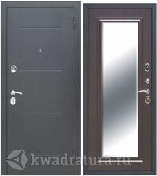 Входная дверь Феррони Гарда 7,5 см Зеркало фацет Серебро/Венге