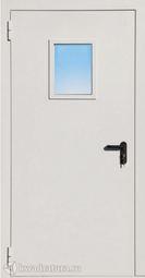 Дверь противопожарная со стеклом ДПМ EI60-01 Ral 9016