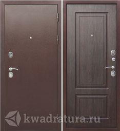 Входная дверь Феррони Толстяк 10 Медный антик/Венге