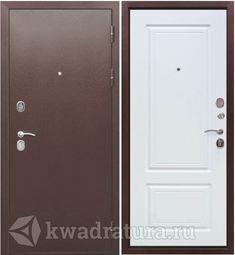 Входная дверь Феррони Толстяк 10 Белый ясень