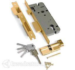 Механизм под ключ 1 плоский ригель Archi латунь
