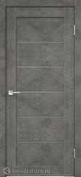 Межкомнатная дверь VellDoris Loft 1 Бетон темно-серый