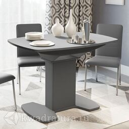 Стол обеденный Портофино Серый/Стекло серое матовое LUX СМ(ТД)-105.01.11(1)