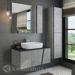 Мебель для ванной Comforty Эдинбург 90 см Бетон светлый