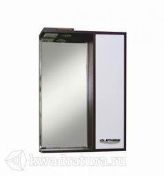 Мебель для ванной Sanita Квадро 60 Зеркало-шкаф венге