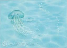 Декор Березакерамика Лазурь медуза бирюзовая 25х35 см