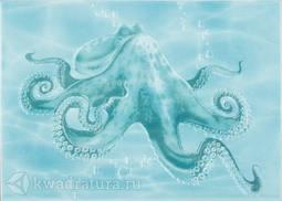 Декор Березакерамика Лазурь осьминог бирюзовый 25х35 см