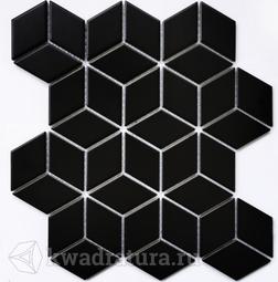 Мозаика керамогранитная Bonaparte Landa black (Matt) 26,7х30,9
