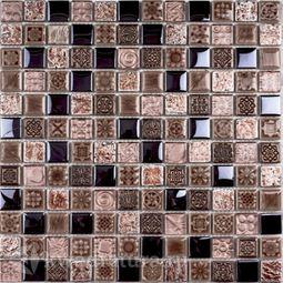 Мозаика стеклянная c камнем Bonaparte  Sudan 30х30