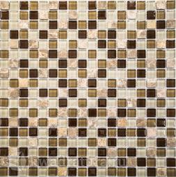 Мозаика стеклянная c камнем Bonaparte Scarlett30х30