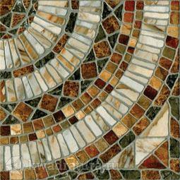 Напольная плитка М-Квадрат Мюнхен штамп коричневый 33х33 см