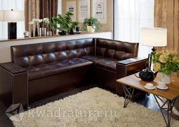 Кухонный уголок Остин Скамья-диван угловая со спальным местом венге