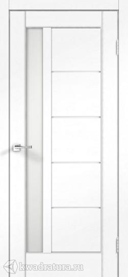 Межкомнатная дверь VellDoris Premier 3 Ясень белый стекло Лакобель бел