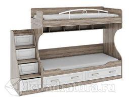 Прованс Кровать двухъярусная с летницей