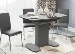 Стол обеденный Портофино 01 Серый/Стекло серое мат