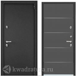 Дверь входная стальная Торэкс Snegir 55 Черный муар металлик/СТ Графит матовый S55-UM-1