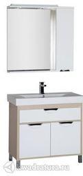 Набор мебели для ванной Aquanet Гретта 90 белый/светлый дуб