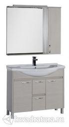 Набор мебель для ванной Aquanet Донна 100 беленый дуб