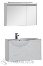 Набор мебель для ванной Aquanet Лайн 90 L белый