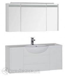 Набор мебель для ванной Aquanet Лайн 120 белый